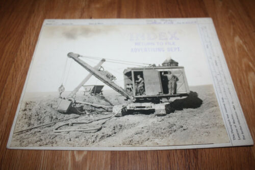 RARE 1924 MARION POWER SHOVEL MODEL 21 ORIGINAL PHOTO FROM ADVERTISING DEPT OHIO