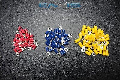 600 PK 10-12 14-16 18-22 GAUGE VINYL RING CONNECTORS 200 PCS EA TERMINAL #10