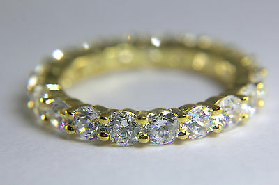 2 1/4 Ct D/VVS1 Round Brilliant Cut Diamond Bridal Wedding BAND 14k Yellow Gold