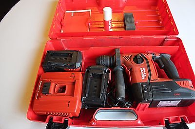 Hilti Sds Hammerimpact Drill - Model Te 6 A36 W 3 Batteries Charger Case