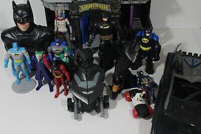 Lot Batman action figure cars Bat Cave