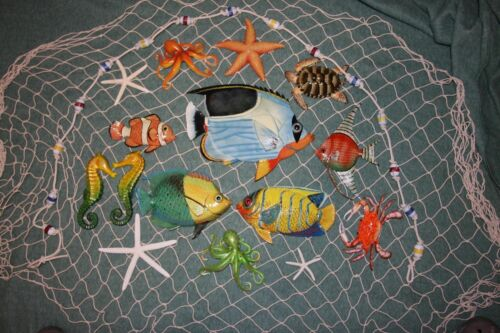 (17) Seafood Restaurant Realistic Coral Reef Tropical Fish Wall Display, SS-02