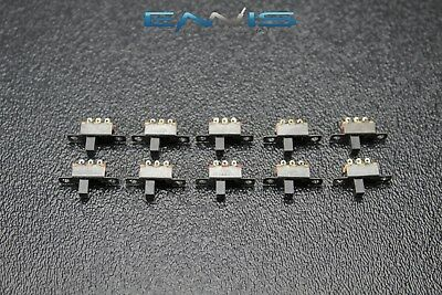 10 Pcs Spdt On-on Mini Slide Switch 125v Ac 3 Amp 3 Pin Toggle Off Ar-110