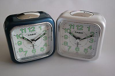 Color Mini Desk Clock (Alarm Clock Casio TQ 142 Luminous Portable White Red Blue Color Mini Desk,Travel )