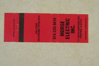 a559 Vintage matchbook cover Morse Electric Inc. Freeport IL Illinois