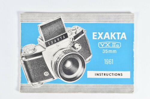 Vintage 1961 Exakta VX Iia 35mm Camera Instruction Manual Booklet Guide