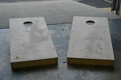 Non Painted DIY Cornhole Board Set - Solid Wood, ACA Certified & Folding Legs - Diy Corn Hole