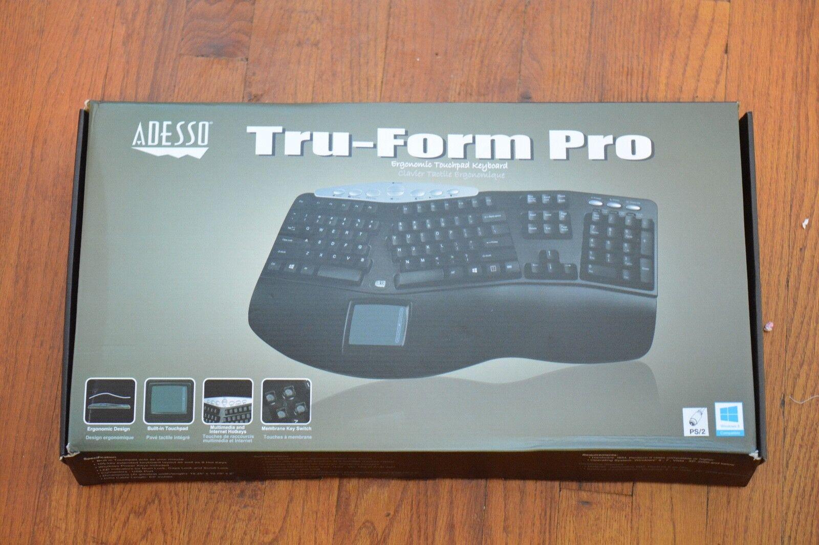 Adesso Tru-Form Pro PS/2 Ergonomic Contoured Multimedia Keyb