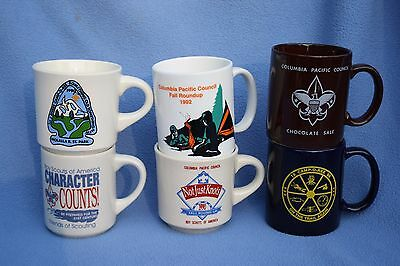 Lot of six Boy Scouts of America Mugs BSA Columbia Pacific Council