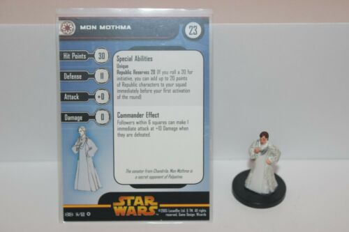 Star Wars Miniatures MON MOTHMA #14 Revenge of the Sith RotS w/ Card mini RPG