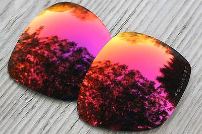 Polarized Dark Purple Red Mirror Sunglass Lenses for Oakley Dispatch 1 Grey (Red Mirror Tint)