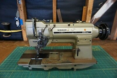 Singer 211 Double Needle 14in Industrial Sewing Machine Head Only