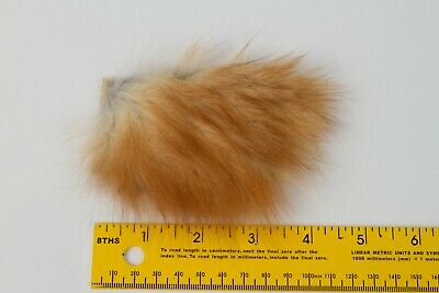 Real genuine coyote fox fur hair scrap pieces fly tying fishing lures art crafts