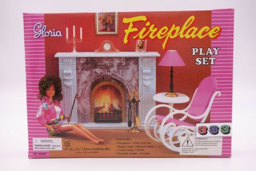 Gloria,Barbie Size Doll House Furniture/(96006) Fireplace Play Set