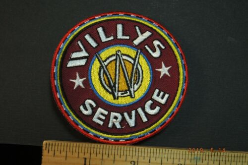 """Willys Jeep Service Embroidered Iron-on Patch 3."""""""