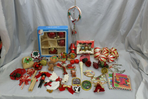 Vintage Christmas Ornament Lot/Bundle. Includes Manufactured and Handmade Items