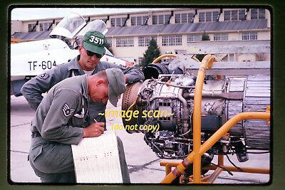 1961 USAF Air Force Northrop T-38 Talon Aircraft Engine Original Photo Slide a1a for sale  Edwards