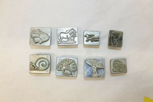 LOT 8 VINTAGE CRAFTOOL CO. U.S.A. LEATHER STAMPS # 5