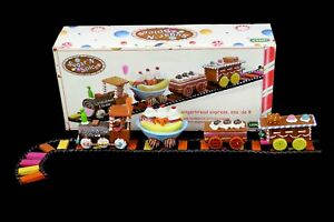 Lemax Sugar N Spice Gingerbread Express 8 Pc Christmas Holiday Train Set Track