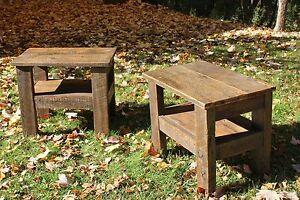 Table de chevet bois de grange