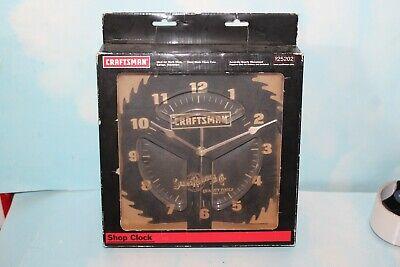 """Vintage NEW Craftsman Sears Roebuck 10"""" Black Steel Saw Blade Shop Clock"""