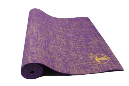 Jute Yoga Mat - Purple
