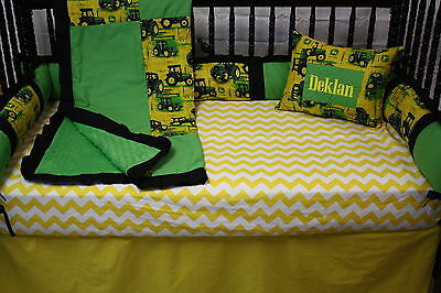 5 pc Tractor John Deere  Baby bedding - free personalized pillow  ()