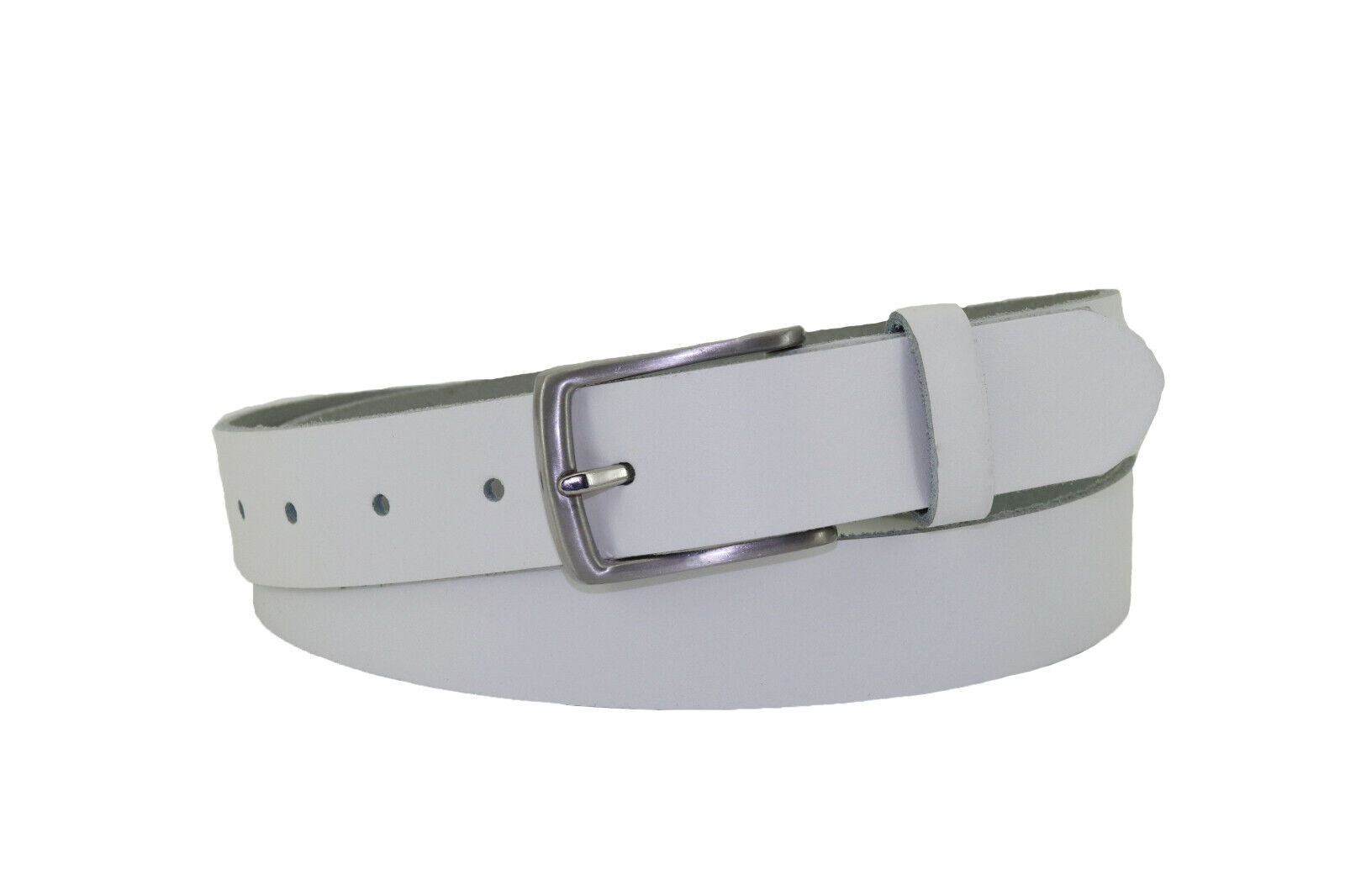 Cirmini Damen//Herren Gürtel 4 cm breit Black Leather Belt