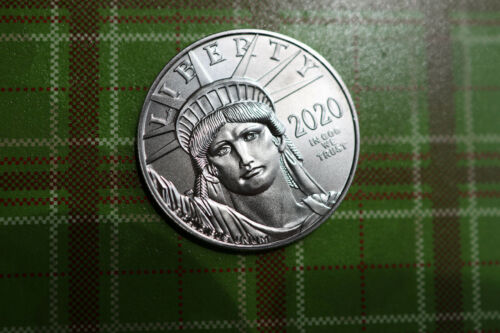 2020 1oz Platinum .9995 Fine BU Bullion uncirc $100 Lady Liberty American Eagle!
