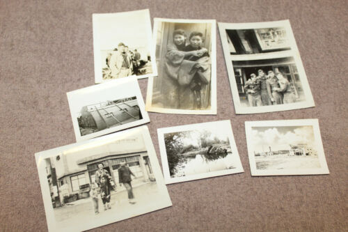 7- Original WW2 Japanese War Time Photographs Taken by Early Occupation U.S. GI