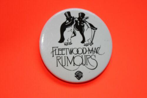 Fleetwood Mac Vintage Promo Pinback Button Pin Rumours 1977