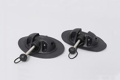 2 x kleine Ruderdolle für Schlauchboote (schwarz), kompletter Ruderhalter Paddel ()