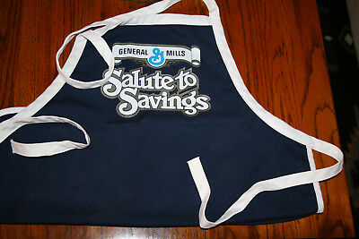 Vintage New Sponsored Advertising Cotton Blend BBQ Apron General Mills
