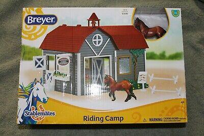Breyer #59212 RIDING CAMP Barn Stablemates Cob Horse 2 cavalettis & More! NIB!