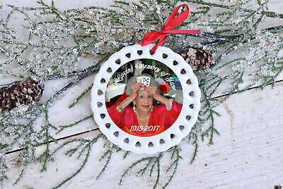 Personalized Ceramic Ornament: In Loving Memory Christmas Ornament - Memorial ()