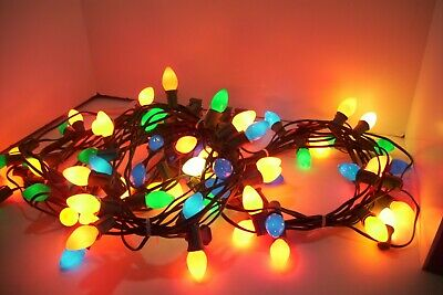 25 Foot Vintage Christmas Lights, Outdoor String Lights, 75 Lights Total, Decor