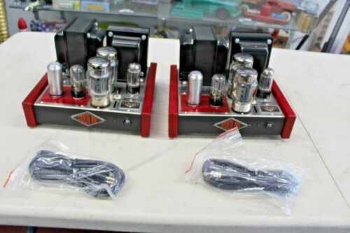 Pair MapleTree Stealth Max Audio Design Vacuum Tube Stereo Amplifiers KT88