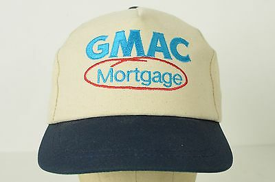 Vintage Gmac Mortgage Off White Baseball Hat Cap Adjustable