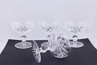 """SET OF 4 WATERFORD CRYSTAL DONEGAL 4-1/2"""" CHAMPAGNE/TALL SHERBET GLASSES - MINT"""