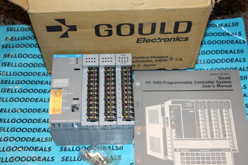 Gould 085C, 2-B131, B130 Programmable Controller AS-085C-000