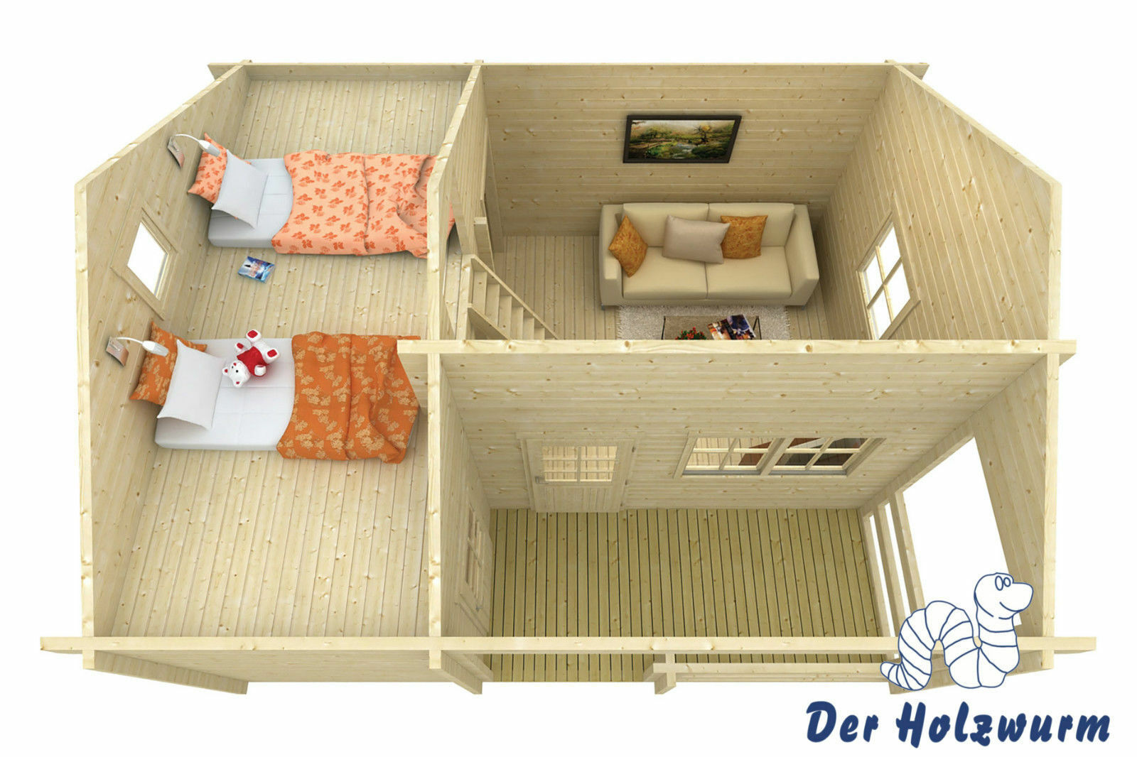 70 mm gartenhaus 600x510cm blockhaus ferienhaus holzhaus holz h tte b ro eur. Black Bedroom Furniture Sets. Home Design Ideas