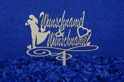 Cake Topper Kuchendeko Tortendeko Blumenstecker Wunschname Personalisiert Love