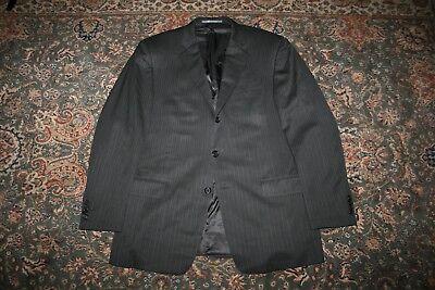 Hickey Freeman Gray Pinstripe Woven Wool Three Button Suit 43 R USA