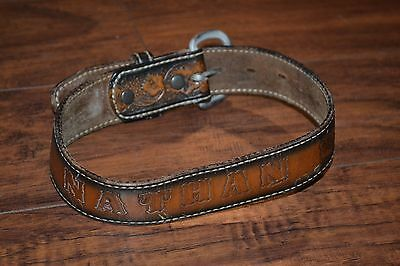 "C2- Vintage ""NATHAN"" Brown Children's Belt"