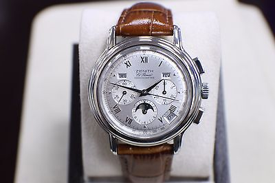ZENITH EL PRIMERO 01.0240.410 CHRONO MASTER 40 MM STAINLESS STEEL BOX & PAPERS