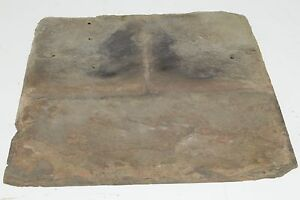 One Piece Antique Slate Roofing Tile Stone Roof Shingles Art Or Restoration  1844