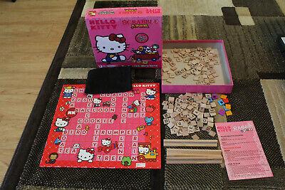 Hello Kitty Junior Scrabble Game 2-Sided Board Complete original box