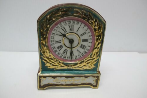 Vintage Hand Painted Ceramic Clock Wall Pocket Planter~Made Japan~Patent 87259