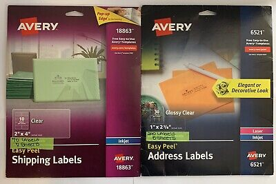Avery Clear Easy Peel Shipping Labels For Inkjet Address Labels For Laser In