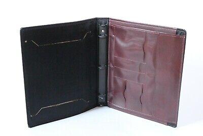 Vintage Hazel 3 Ring Binder Organizer Planner Case Folio Brown Made In Usa